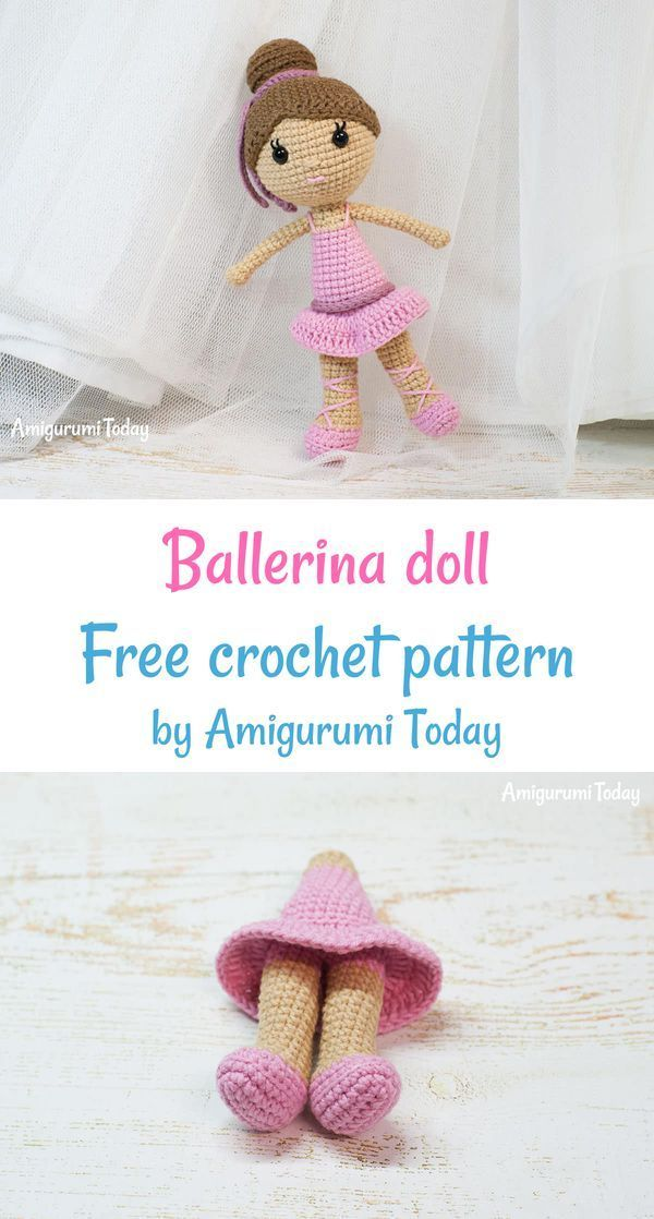 Ballerina doll amigurumi pattern - printable PDF – Amigurumi Today ... | 1118x600
