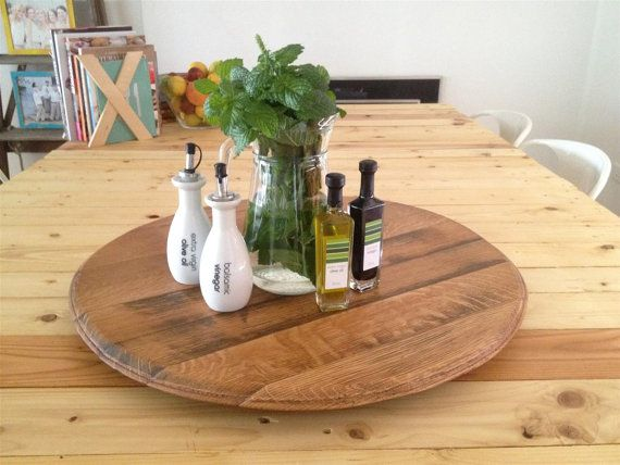 Oak Wine Barrel Lid / Head / Top Lazy Susan / great as centerpiece for table, gifts, weddings, christmas presents / Made in Australia
