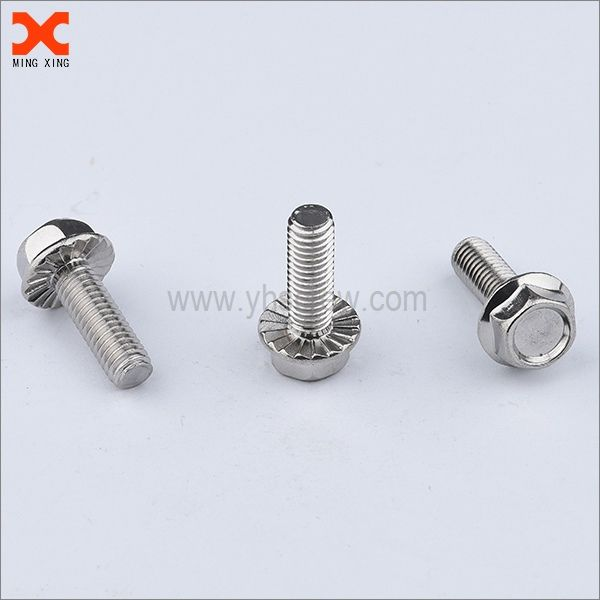 Hex head stainless steel flange bolts manufacturer