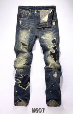 mens levi's shredded jeans - Google Search