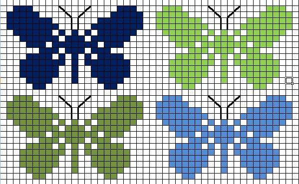vlinder kruissteek, butterfly cross-stitch, papillon point de croix