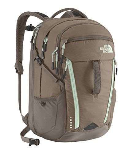 The North Face Women's Women's Surge Brindle Brown/Surf Green Backpack