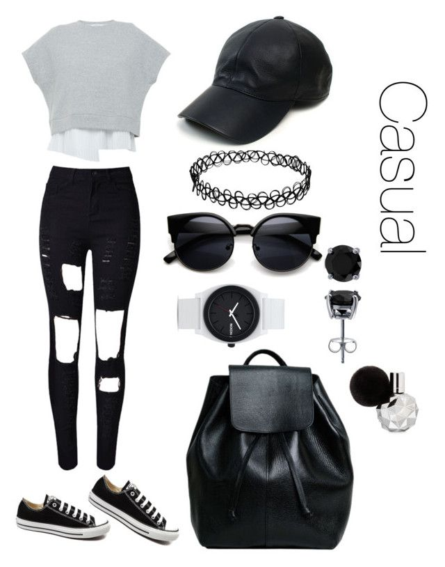 """Untitled #5"" by loko-kganyago on Polyvore featuring 10 Crosby Derek Lam, Converse, Vianel, Nixon and BERRICLE"