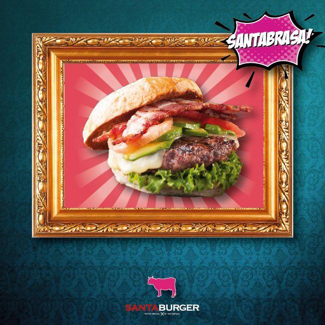 Una burger de excelencia! La más solicitada por nuestros clientes ya que contiene toda la experiencia en un pan, la increible burger #Santabrasa! La mejor!