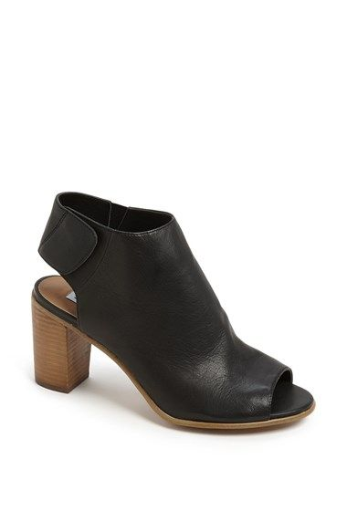 Fall transition shoe | Steve Madden 'Nonstp' Bootie Womens Black Leather