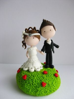 Wedding Clay Cake Topper - Garden of Love (Not Editable) by jane77