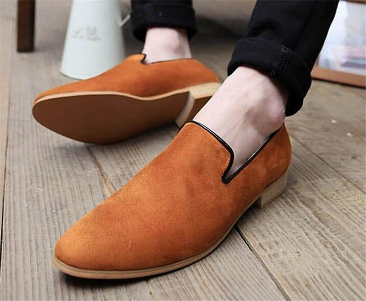61.77$  Buy now - http://alio9v.shopchina.info/go.php?t=32789190866 - Brand Men Brogue Shoes Fashion Slip On Loafers Flat Heels Cow Leather Shoes Round Toe Dress Formal Shoes Men Oxfords For Male  61.77$ #magazineonlinewebsite