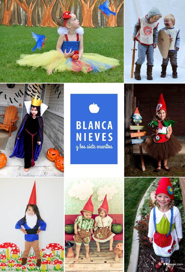 Disfraces para niñ@s del cuento de Blancanieves y los siete enanitos