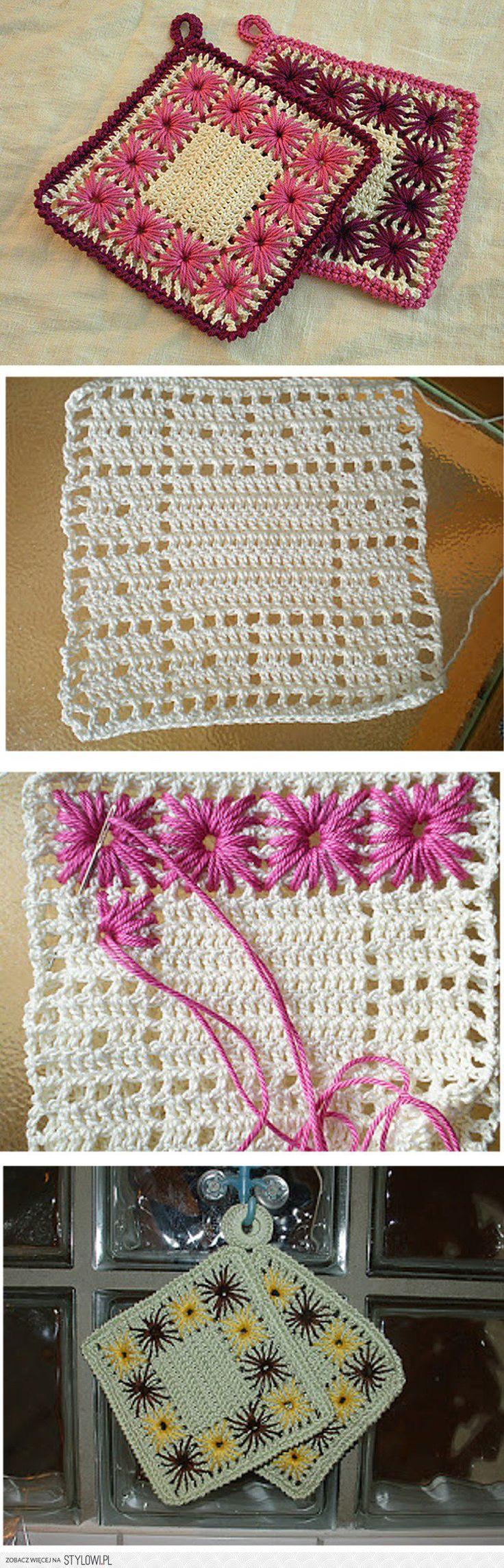 topflappen häkeln - crochet potholder