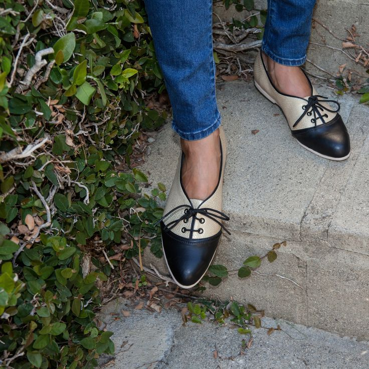 Women Textile Oxford Shoes Patterned