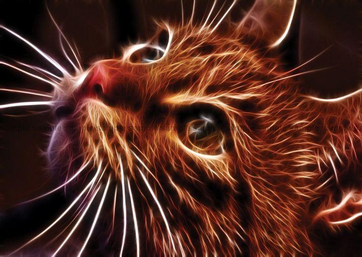 tiger fractal cats e - photo #40
