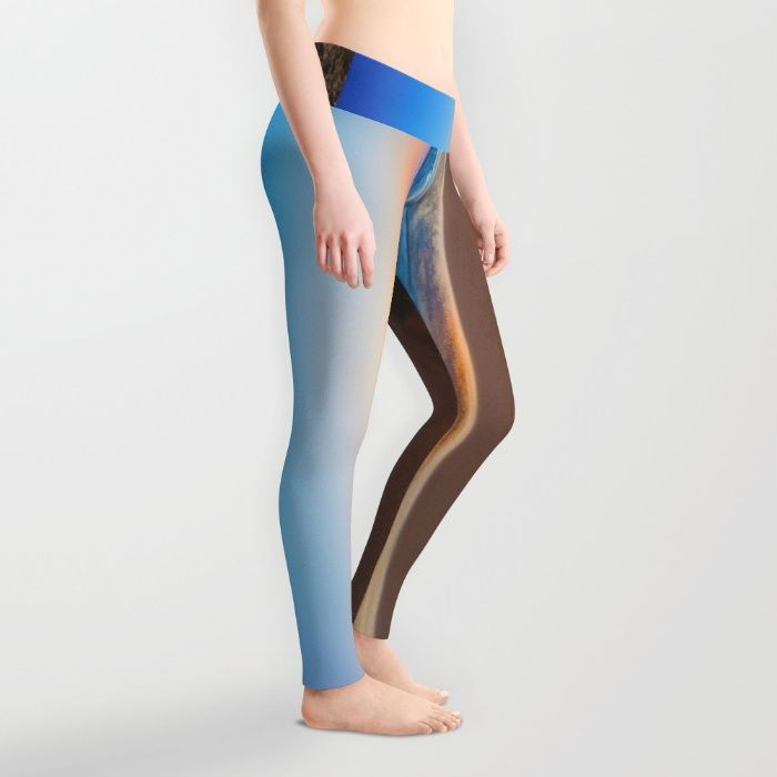 A Day At The Beach Leggings by Mixed Imagery | Society6