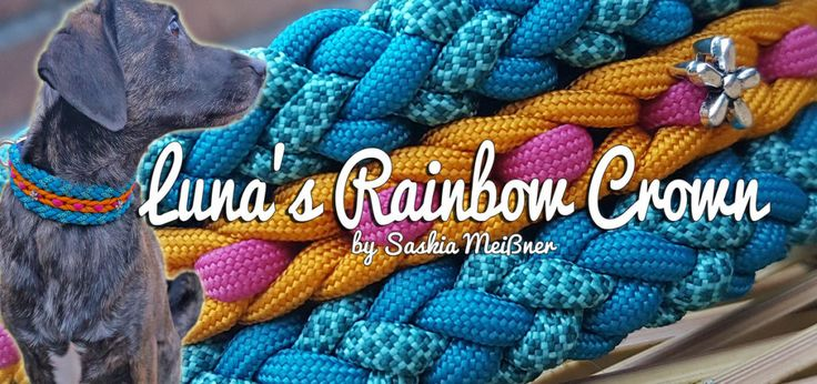 Luna's Rainbow Crown | Swiss Paracord 38mm 1/12.5 2/6.1 Rand 2x 3/6.1 Rand 2x 4/8.1 Mitte 2.5