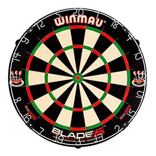 Winmau Blade 5 Dual Core Bristle Dartboard  Full review at: http://best10best.com/best-dartboard/