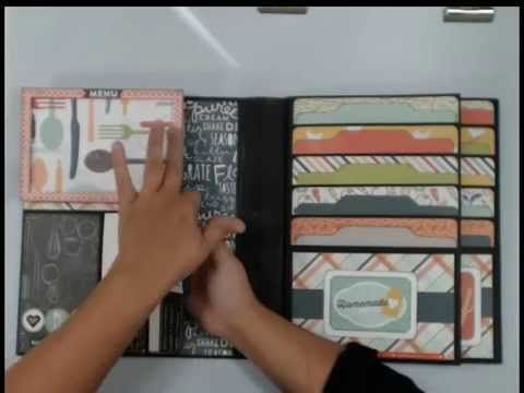 Kathy Orta'sFoto Folios 2 Style 2 of 6 - Recipe Organizer - YouTube _ need to make one each for Jordan & Brooke