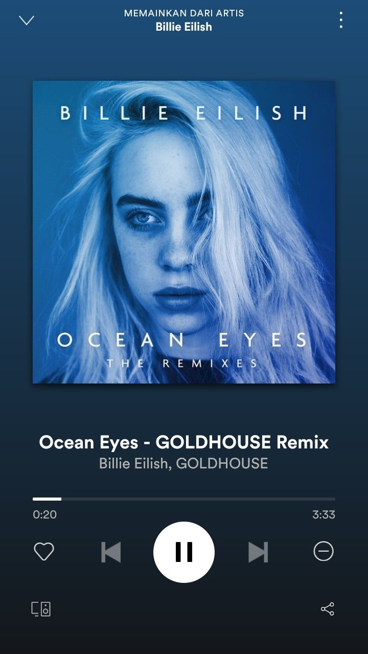 pin oleh chikita billie eilish spotify