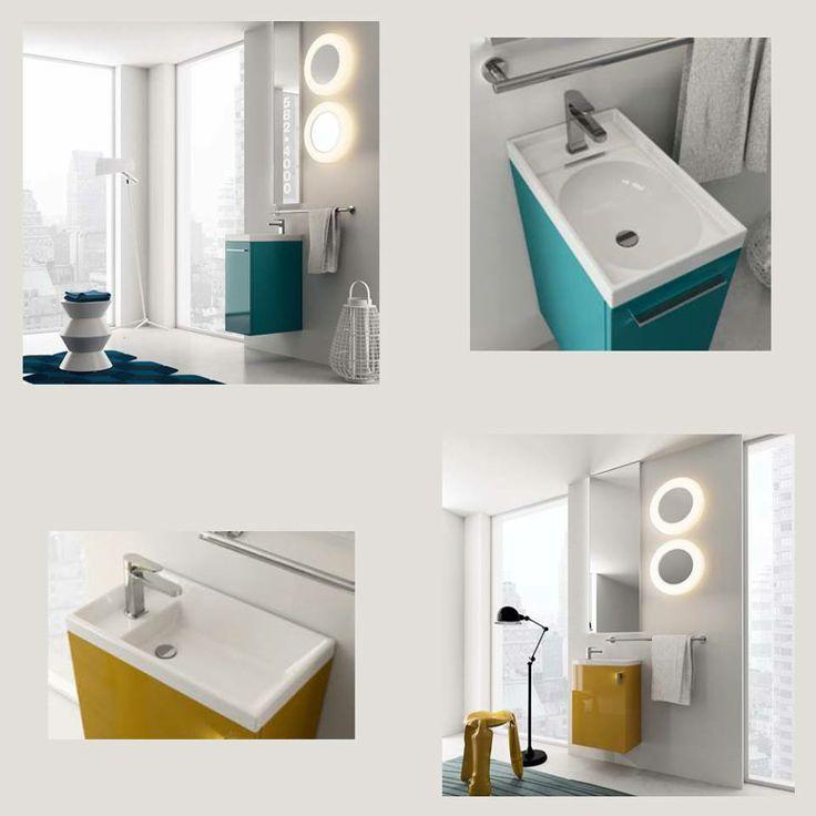 Ένα μικρό έπιπλο πρέπει πάντα να έχει έντονα χρώματα για να ομορφαίνει ένα μικρό μπάνιο www.kypriotis.gr - #kypriotis #kipriotis #plakakia #plakidia #anakainisi #athens #ellada #greece #hellas #banio #dapedo