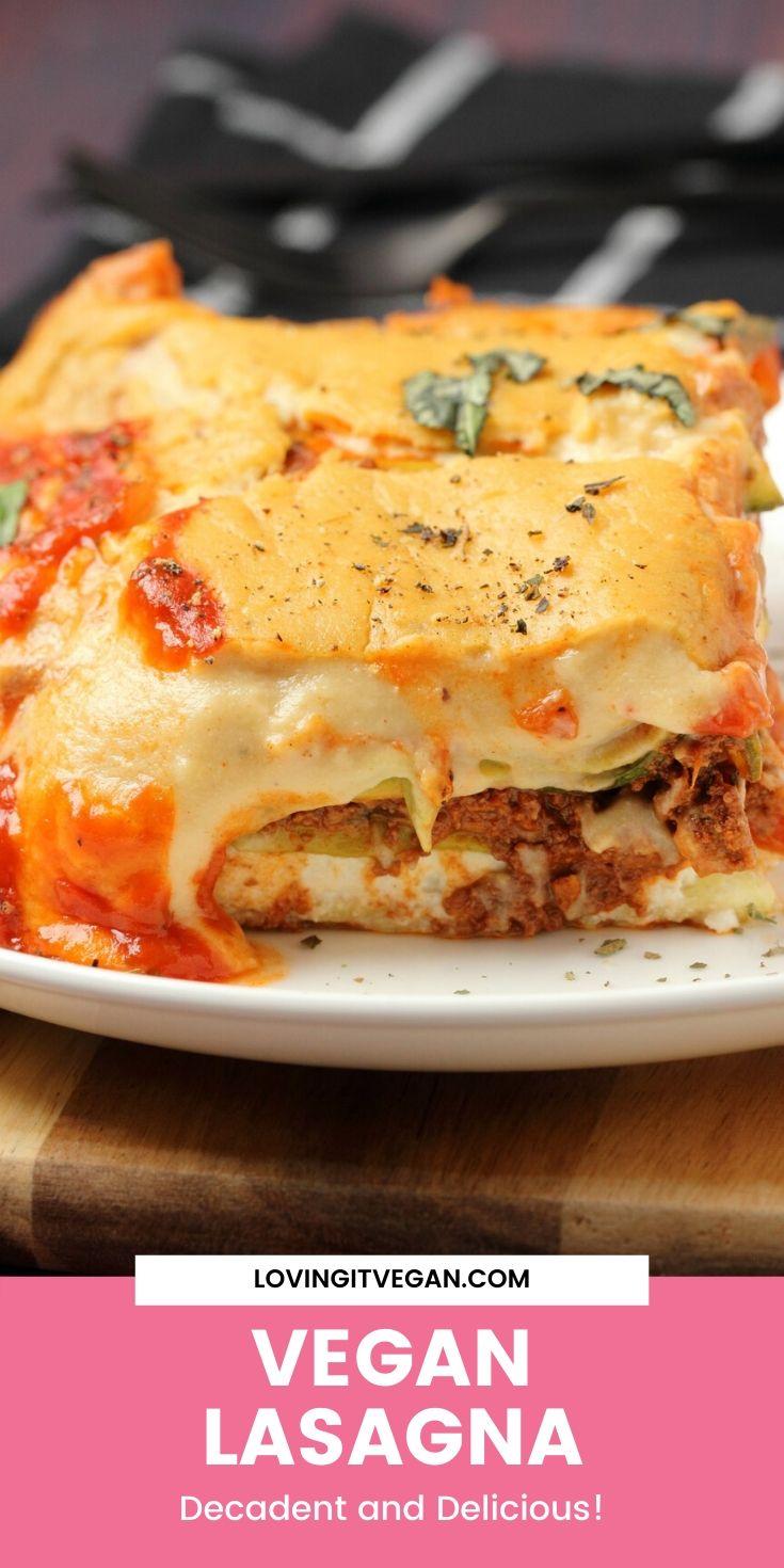 The Best Vegan Lasagna In 2020 Vegan Lasagna Best Vegan Lasagna Recipe Tofu Recipes Vegan
