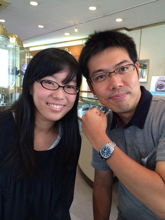 ★山本様/グランドセイコー - SBGX061 ☆結納返しとして。買ってくれてありがとう!今まで時計はほとんどしなかったけど、これからは喜んで着けるね。時計も君も、一生大切にしていきます!  〝人生の節目に腕時計を〟