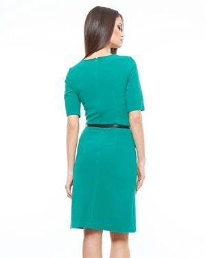 Lisa Moretti Solid Color Dress - Made In Europe