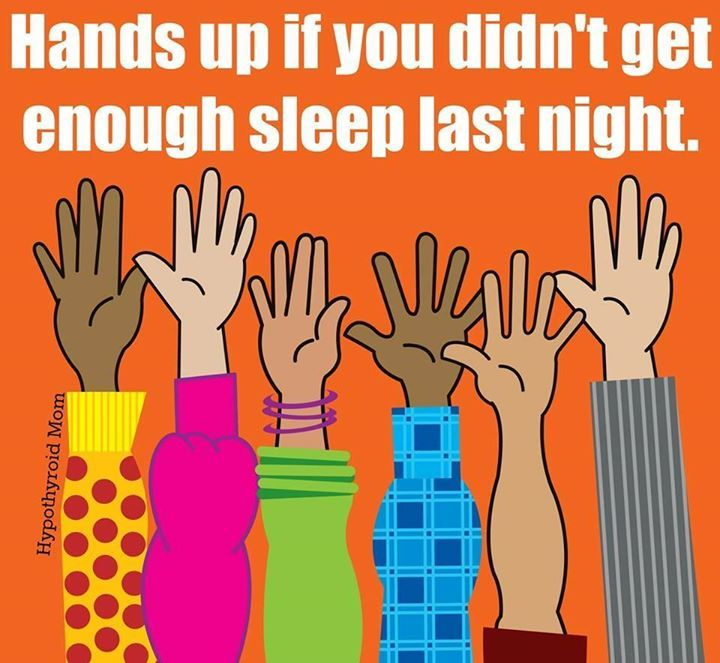 Hands up if you didn't get enough sleep last night . XD