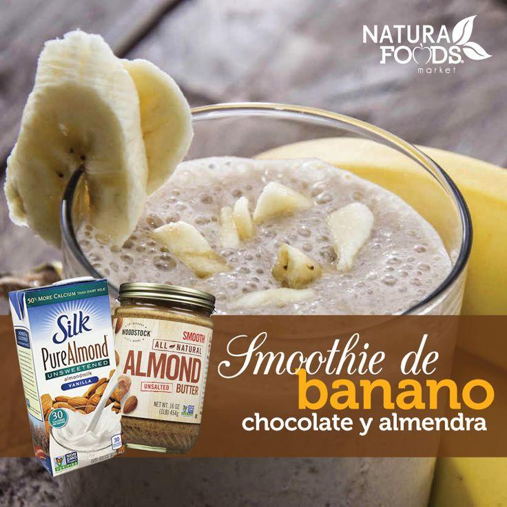 Este delicioso smoothie de temporada es un ideal desayuno que te brindará toda la energía que necesitas para arrancar la semana. Mira nuestra receta al estilo de Naturafoods Market en http://naturafoodsmarket.com/recetas/smoothie-de-chocolate-banano-y-almendra/