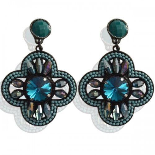 Sinterklaas? Koopt hier zijn schoencadeautjes #Bijoux #sieraden Blauwe oorbellen met blauwe kralen inleg (steker) voor maar 7,95 per paar