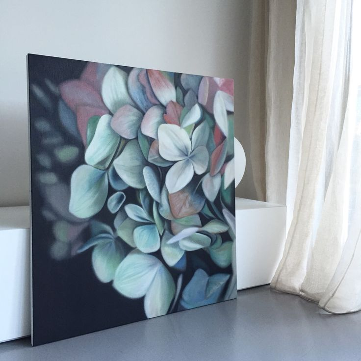 Hydrangea painting by Leanne Thomas                                                                                                                                                                                 More