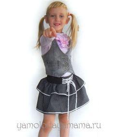 Как сшить юбку для девочки: готовое изделие