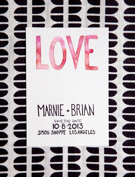 Lottie Loves...: Type >> Pretty Save the Date Inspiration