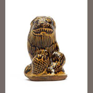 flemish slipware lion ...18th century