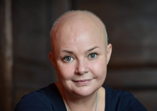 Gail Porter's hair is growing back. Picture: SWNS. She is putting the growth down to a raw food detox diet involving uncooked cabbage and vegetables. Edinburgh Evening News. Dec 11th 2015