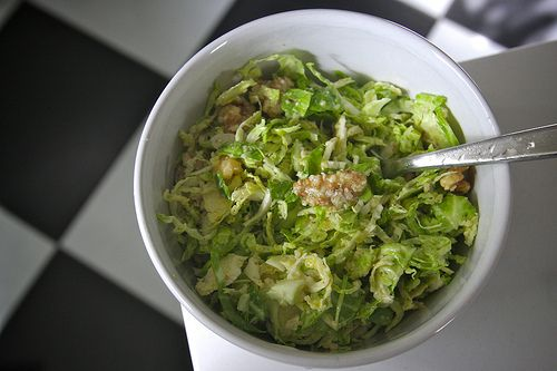 Brussels Sprouts Salad with Parmigiano-Reggiano and Toasted Walnuts