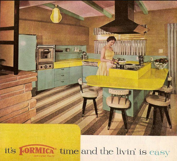 Populaire 186 best Vintage Kitchens images on Pinterest | Vintage kitchen  EO58