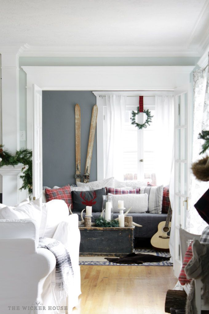 Our Rustic Cottage Christmas Tour 2015   The Wicker House · Country  Christmas DecorationsChristmas ...