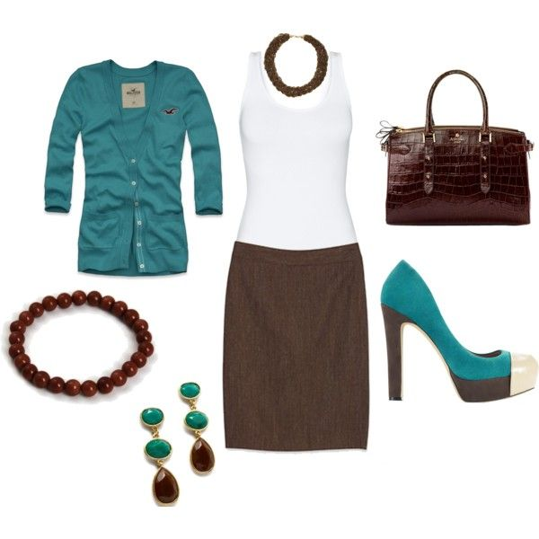 """""""brown and teal work"""" but with flats"""