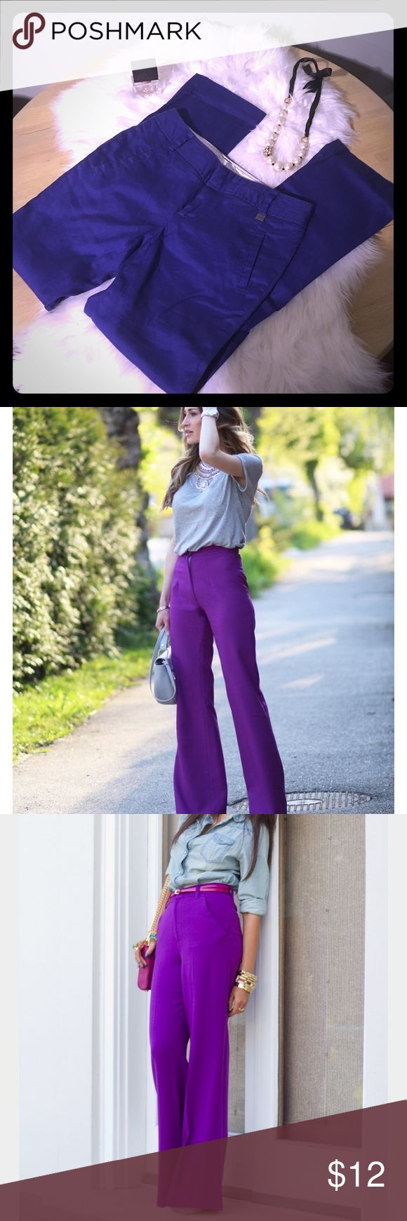 Calvin Klein Dark Purple Linen Blend Pant Dark Purple, Calvin Klein Linen Blend Pant.  Professional, Lightweight & Perfect for Summer.  A Great Way to Change up Your Work, or Casual Wear.  Love Them With a Neutral Top and Strappy Sandal, Since the Pants are the Statement Piece!  Only Worn a Couple of Times, In Great Condition.  The Second/Third Pic are for Inspiration, My Pants are Slightly Darker in Color.  Bundle & Save $$! Calvin Klein Pants Boot Cut & Flare