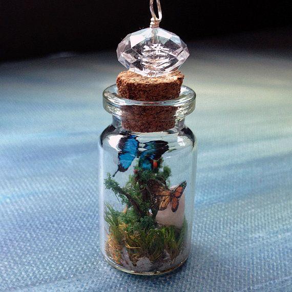 miniatura wonderland terrario botella pendant 2 por beadingmom