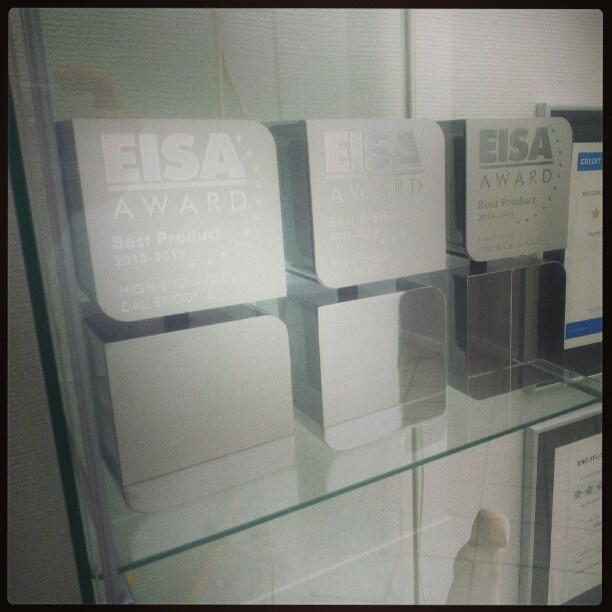 DALI EISA Awards for #IKON 6 MK2, #FAZON F5, and #EPICON 8. Photo by dali_loudspeakers