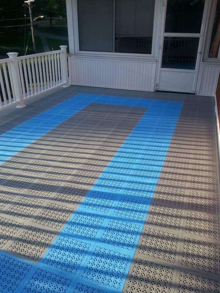 Decking tiles are available as non slip modular ft  Use decking tiles  outdoors around pool decks  rooftops  patios and wet areas. 36 best Deck and Patio Flooring images on Pinterest   Patio