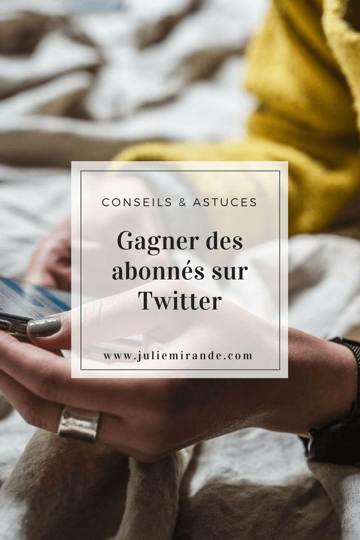 Gagner des abonnées sur Twitter avec ces astuces #socialmedia #réseauxsociaux #twitter