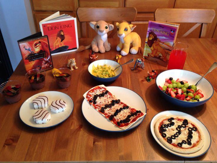 Lion King Dinner - Simba's Zebra Pizza, Rafiki's Trees of Life (broccoli), Zazu's Jungle Fruit, Timon and Pumbaa's Bugs in the Dirt, Nala's Zebra Cakes and Mufasa's Jungle Juice - Lion King Movie Night - Disney Movie Night - Family Movie Night