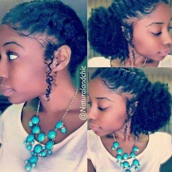 French braid side puff - Black Hair Information Community