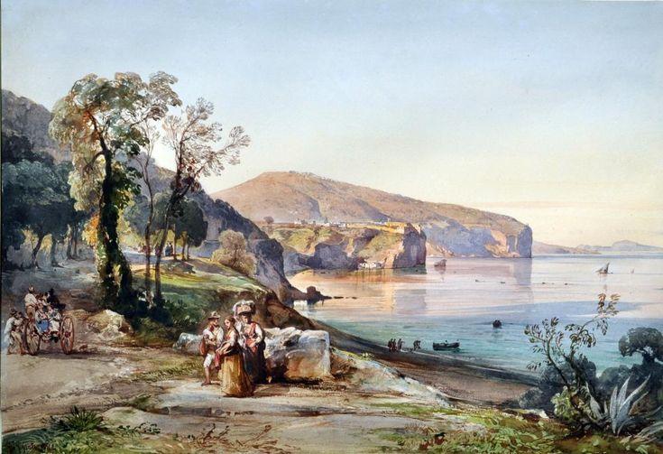 Sorrento , 1851 by Giacinto Gigante (Napoli 1806 - 1876)