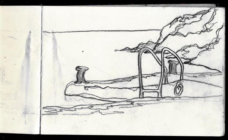 Elba island 1995 - Sketcher Riccardo Giunti sketchbook summer 2002. #riccardogiunti