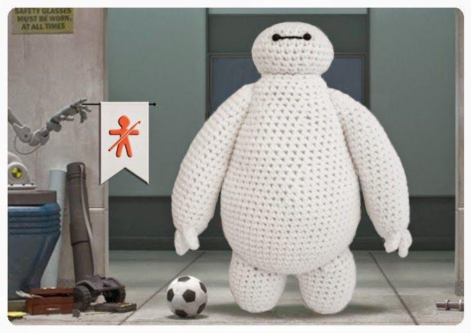 """Amigurumi Baymax - De la película  """"Big Hero 6"""" de Disney - Patrón Gratis en Español  e Inglés aquí: http://amigurumisfanclub.blogspot.com.es/2014/12/baymax-big-hero-6.html"""