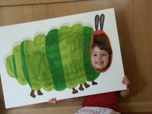 Fun @Matty Chuah World of Eric Carle craft project for little ones to star as The Very Hungry Caterpillar himself!