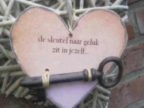 hart+ sleutel sieraden met boodschap