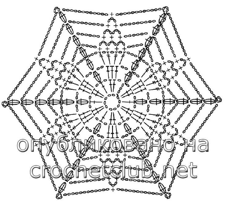 Шестиугольные мотивы крючком со схемами фото 590