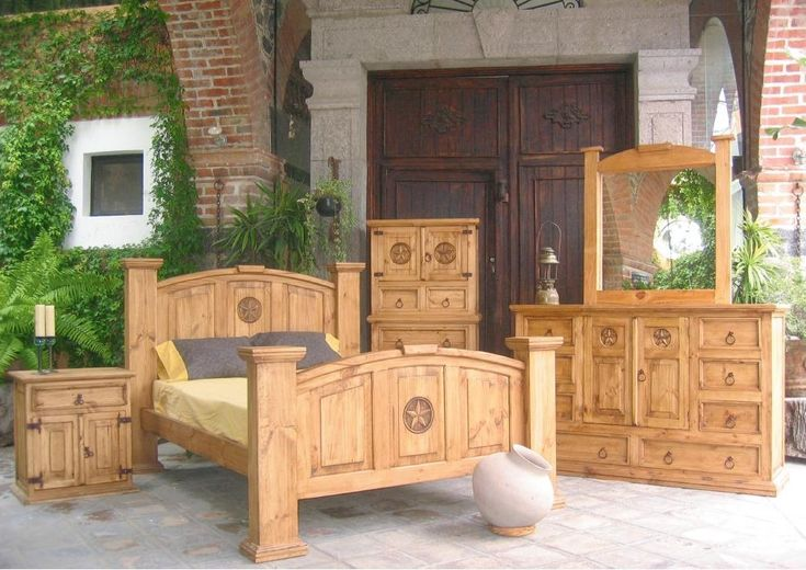 rustic bedroom furniture sets | rustic bedroom furniture set post bed the mansion rustic bedroom ...